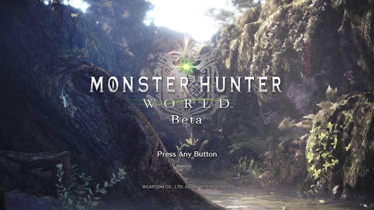MonsterHunterWorldBetaスタート画面|(c) CAPCOM