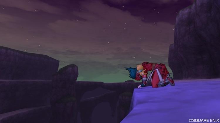 男性が崖に向かってガックリと膝をついている(ドラゴンクエスト10のスクリーンショット)|(c) SQUARE ENIX
