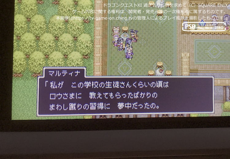 メダル女学園にて自身の十代を語るマルティナ(3DSによる管理人のプレイ画像)